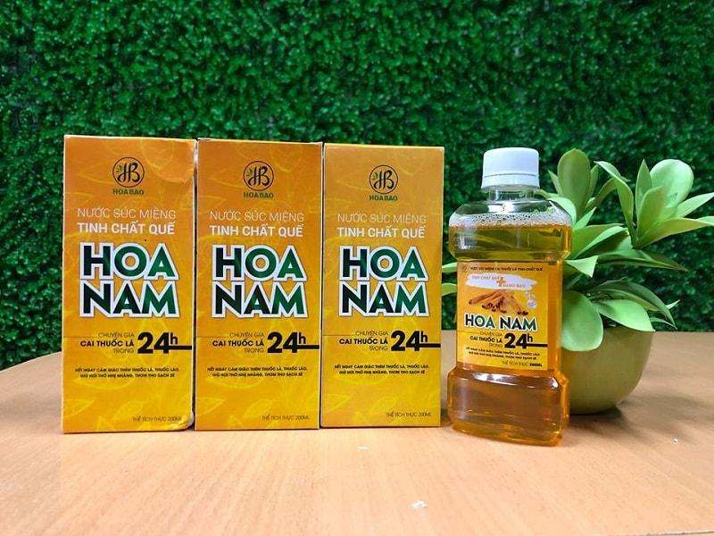 Nước súc miệng cai thuốc lá Hoa Nam