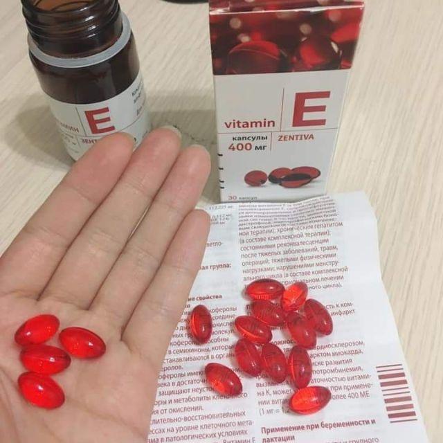 Vitamin E Đỏ Nga Mirrolla 270mg Hộp 30 Viên
